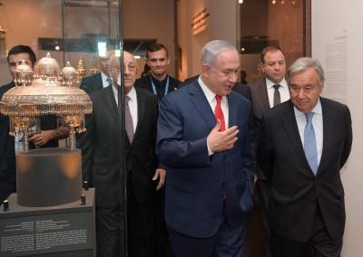 """ראש הממשלה ומזכ""""ל האו""""ם"""