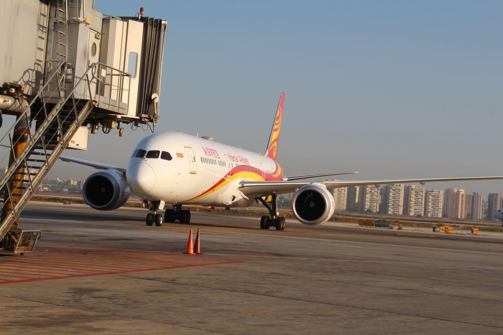 המטוס הסיני לאחר הנחיתה
