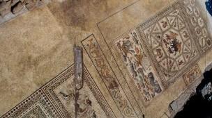 הפסיפס שהתגלה בלוד