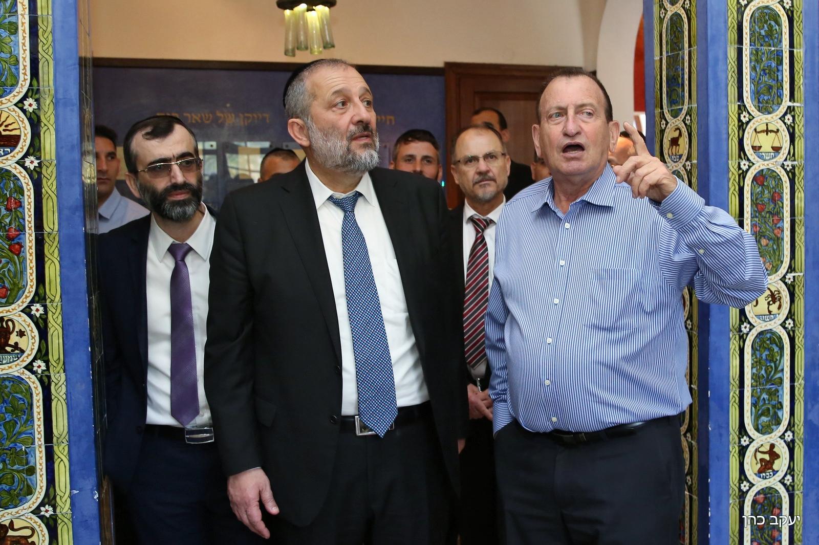 דרעי, חולדאי, אלנתן ובכירים העירייה