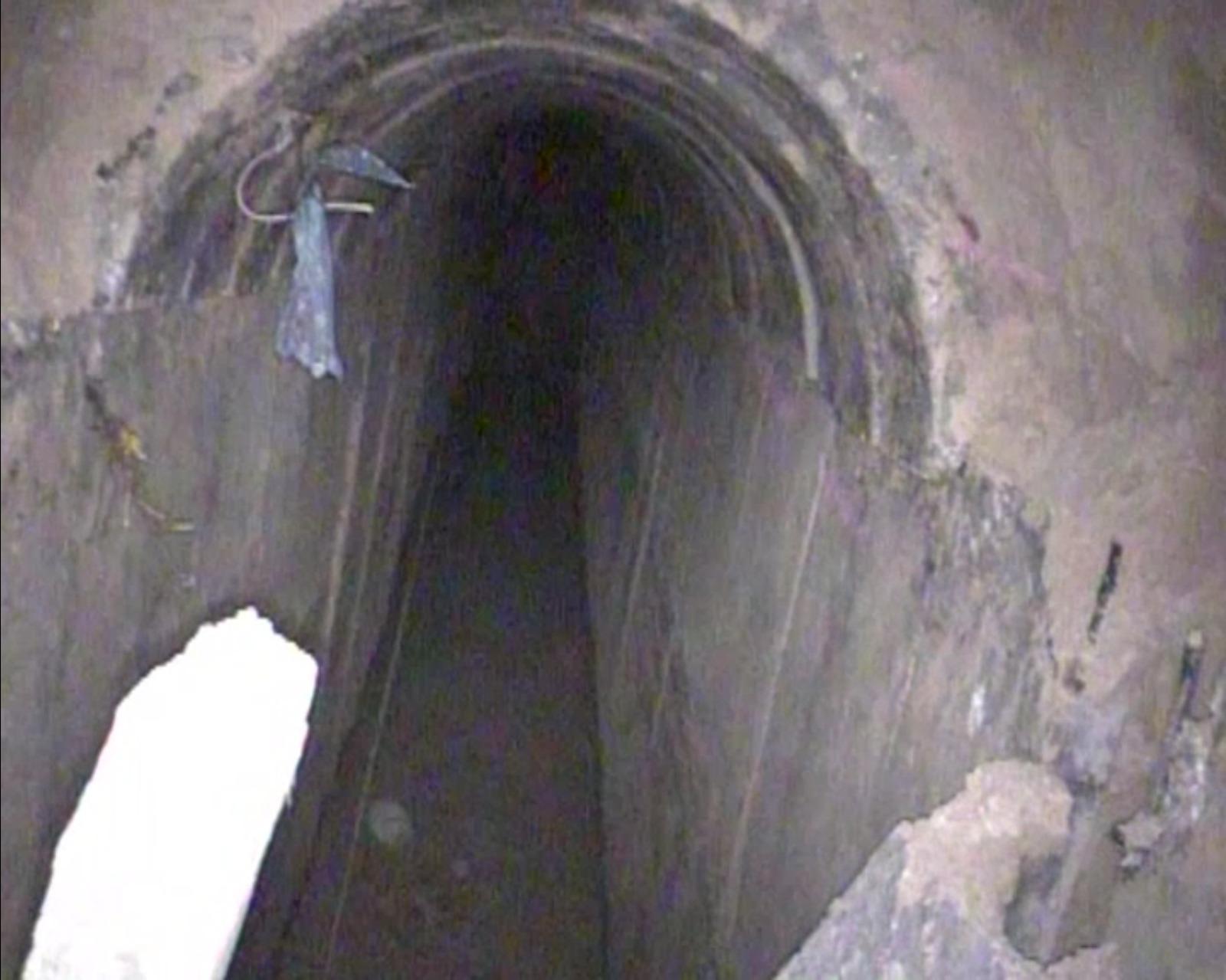 המנהרה שנחשפה