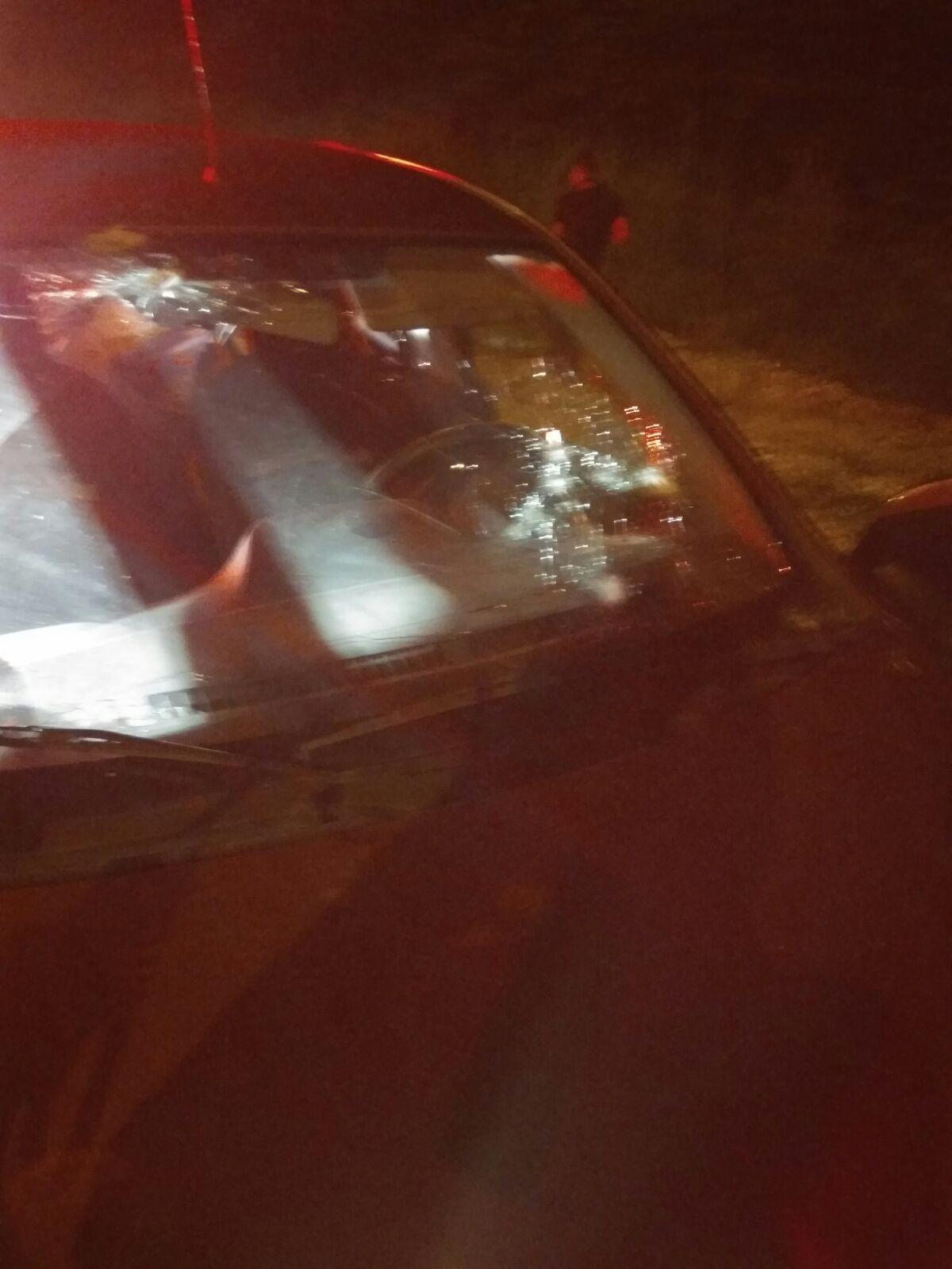 הרכב לאחר הירי