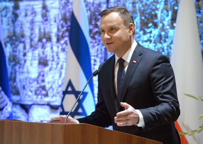 נשיא פולין בביקור בארץ לפני כחצי שנה