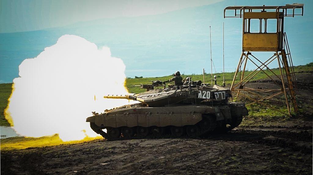 טנק בתרגיל
