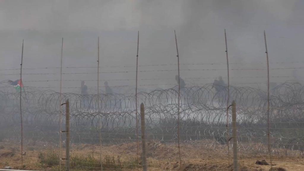 הפגנות חמאס סמוך לגדר