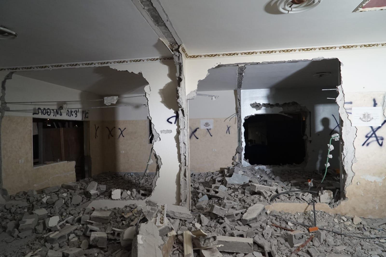 דירת המחבל לאחר ההרס