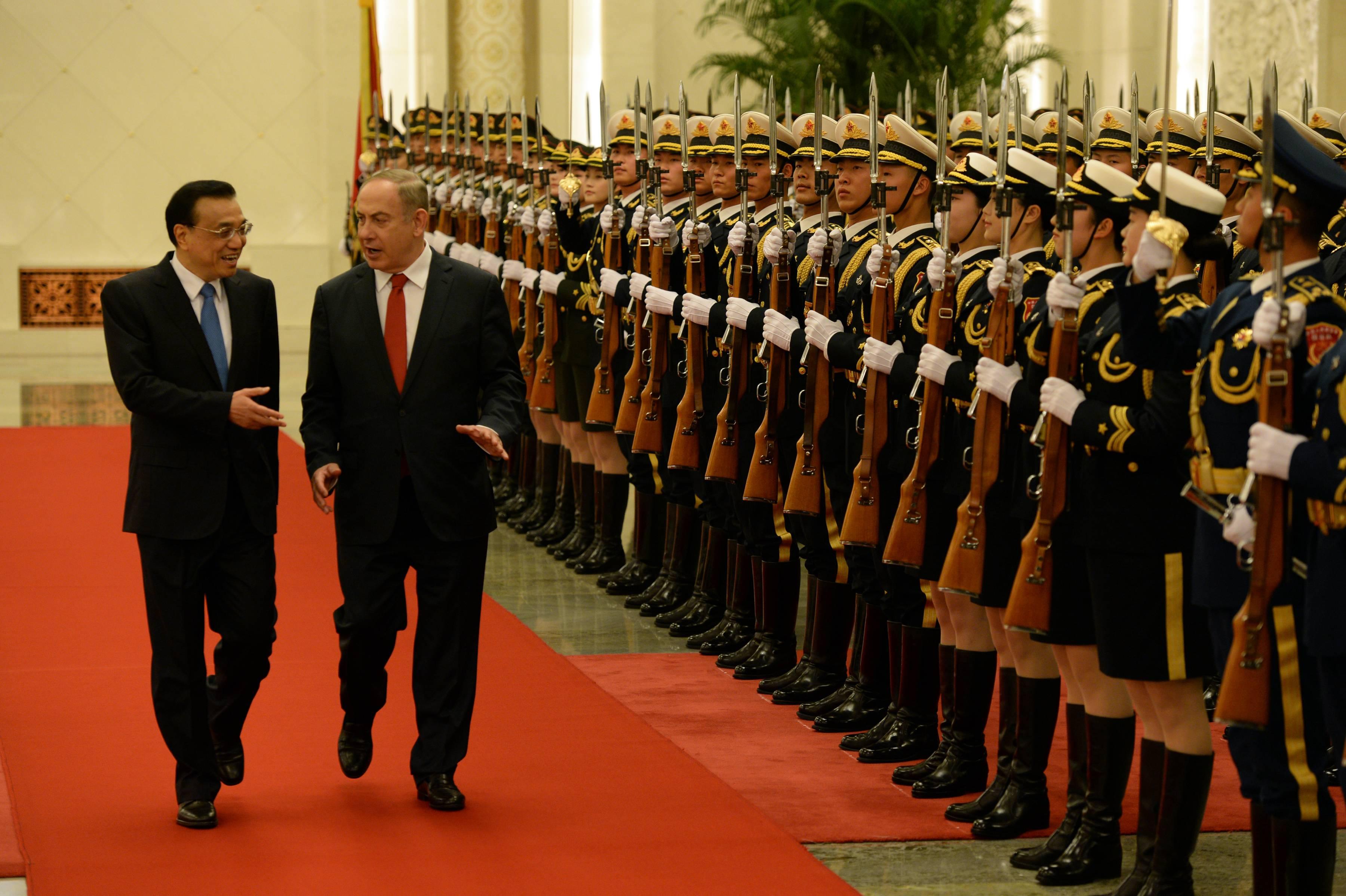 נתניהו מתקבל בכבוד בסין