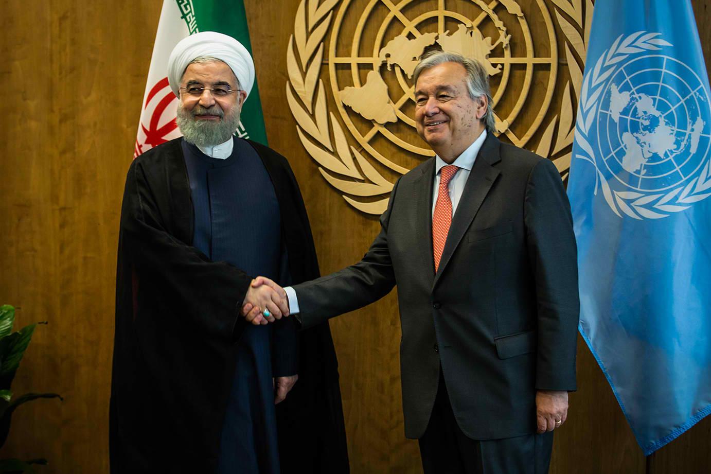 """נשיא איראן באו""""ם. צילום פלאש 90"""