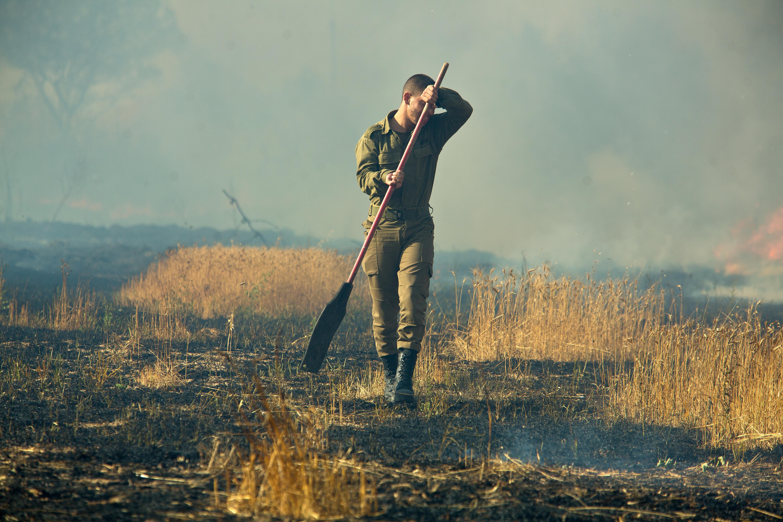 הצתות בעוטף עזה. צילום פלאש 90