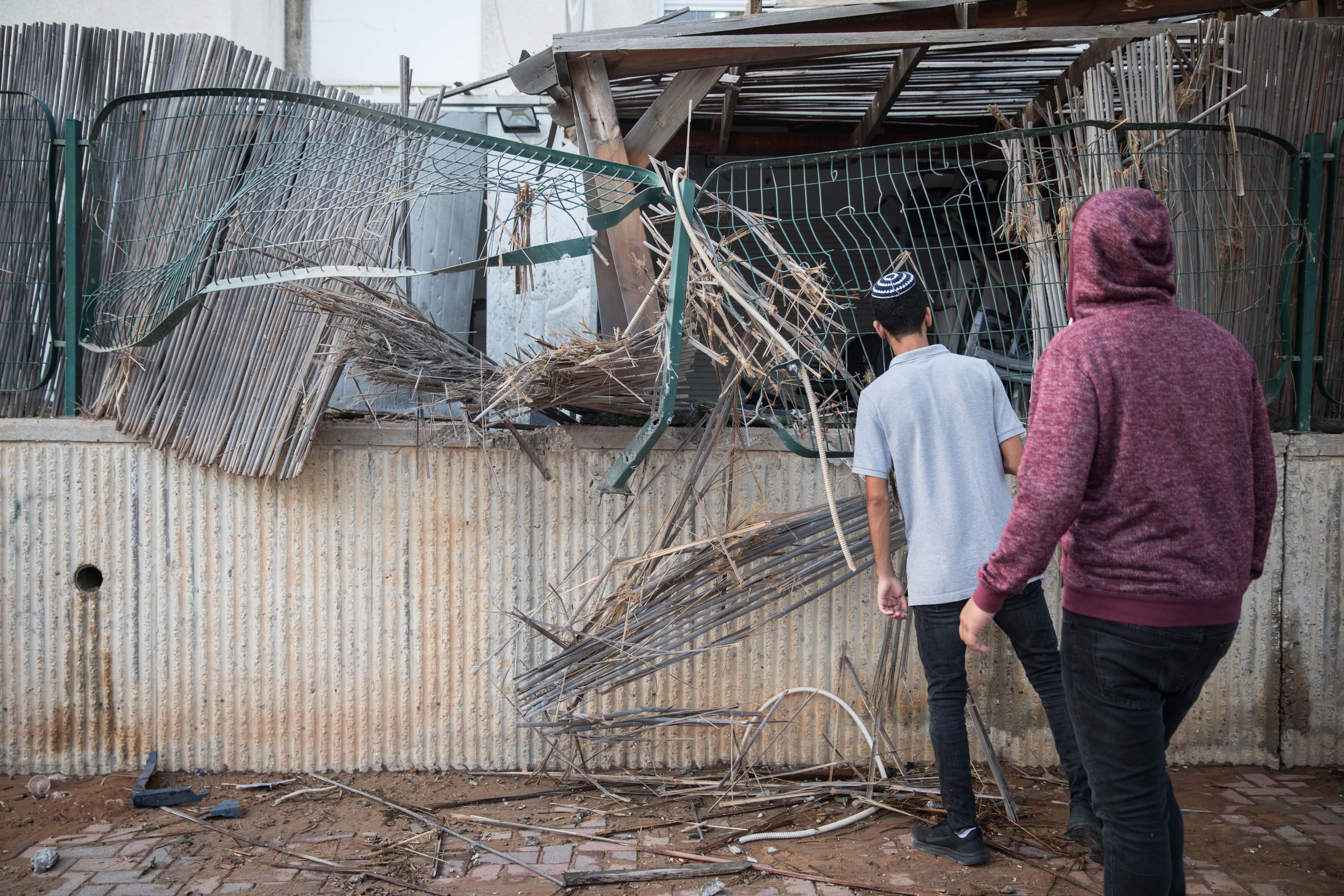 הבית שנפגע בשדרות. צילום פלאש 90