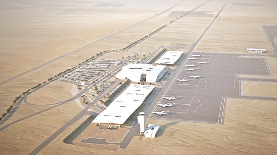 הדמיית שדה התעופה רמון. הדמייה: מן שנער אדריכלים