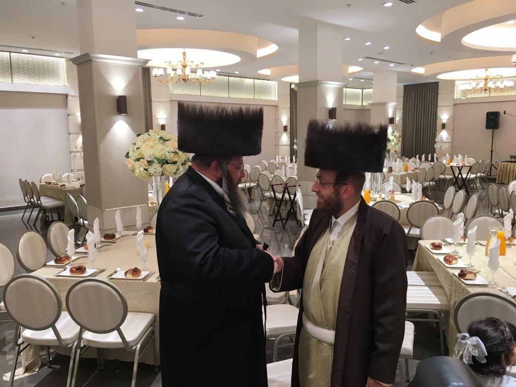 אהרל'ה סאמעט ומאיר אדלר צילום בנצי לייזרוביץ