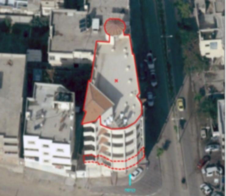 הבניין שהופצץ
