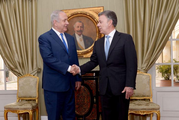 ראש הממשלה עם נשיא קולומביה הקודם