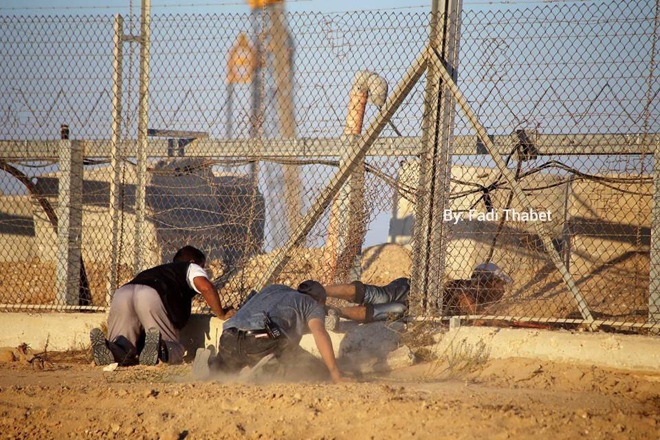 במהלך פריצת גדר הגבול בעזה ביום כיפור