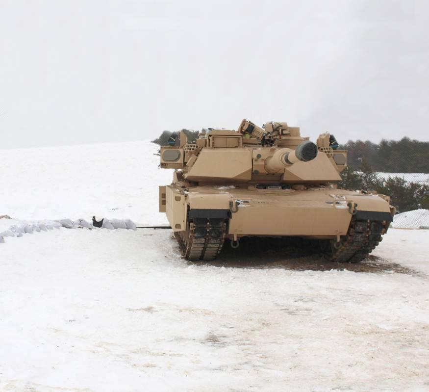 """בתמונה: רדאר ELM-2133. מותקן על טנק אברמס של צבא ארה""""ב"""