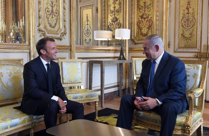 """ראה""""מ ונשיא צרפת מקרון בפגישתם האחרונה בפריז"""