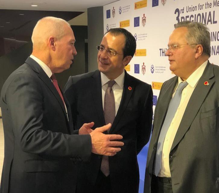 השר גלנט עם שרי החוץ של ספרד ויוון