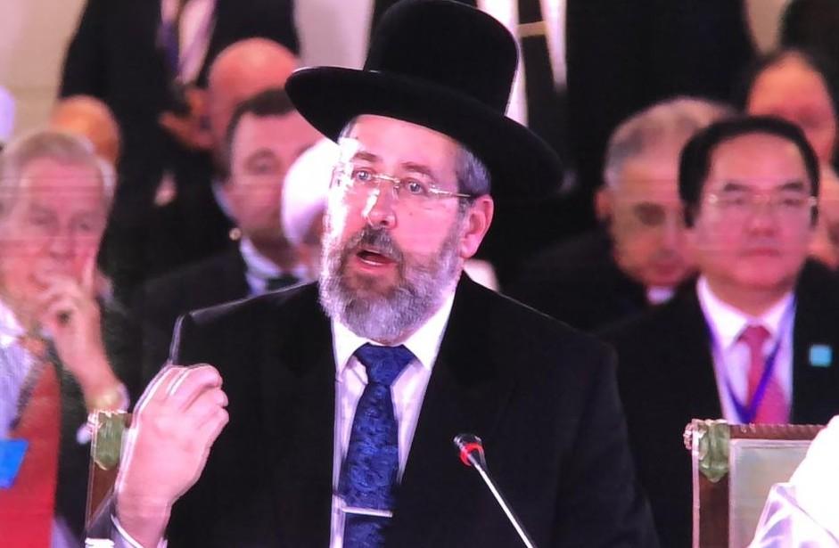 הרב הראשי לישראל הגאון הרב דוד לאו בוועידה היום