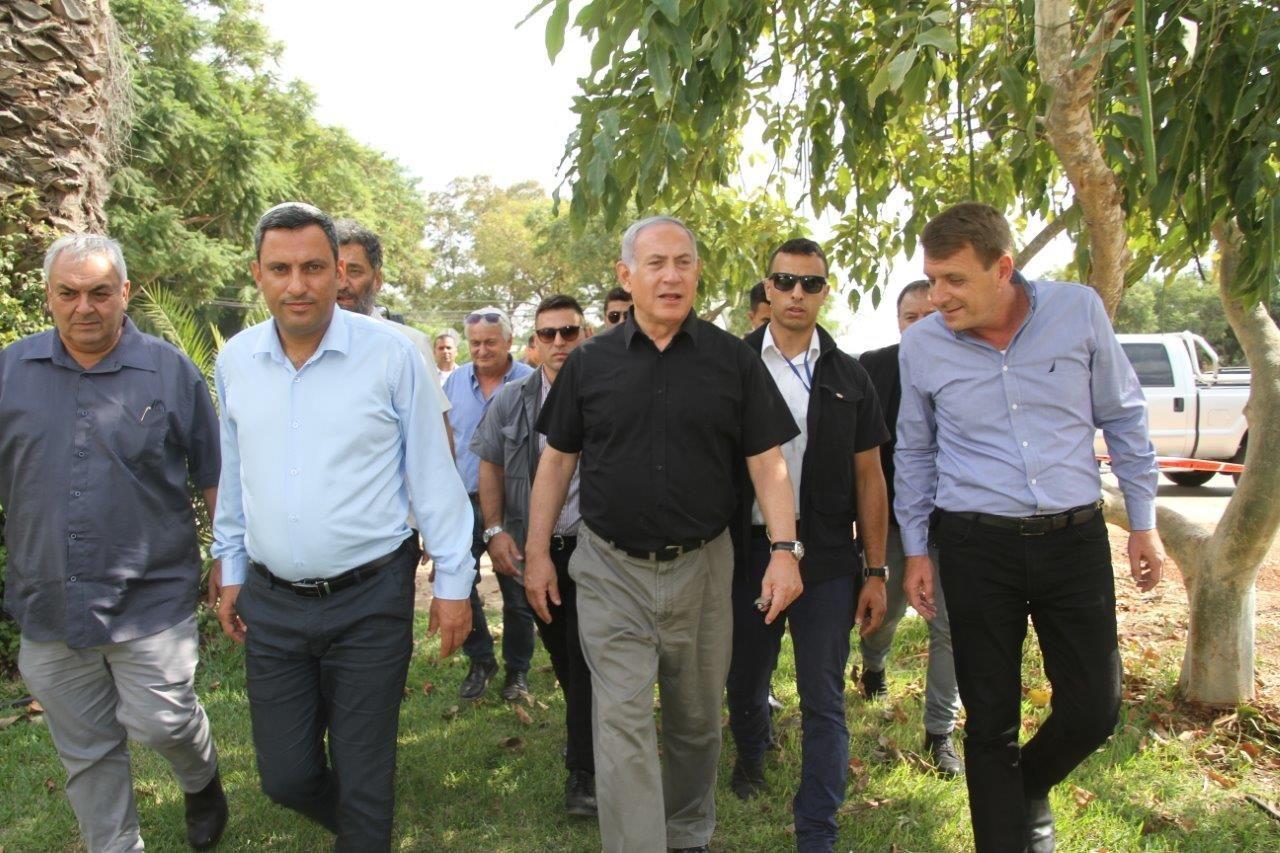 ביקור ראש הממשלה היום בישובי עוטף עזה