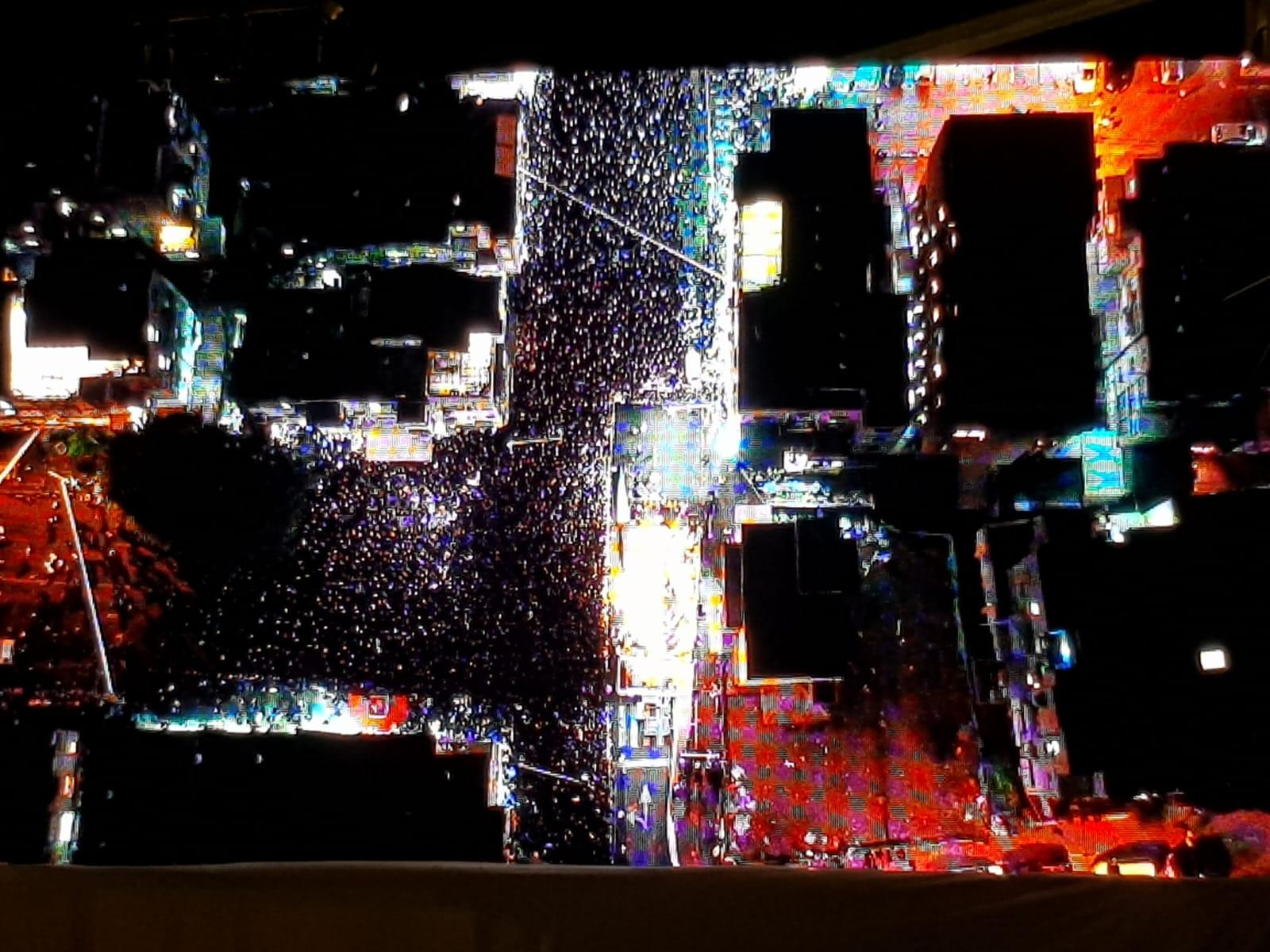 צילום אווירי של אלפי בני התורה בבני ברק הערב