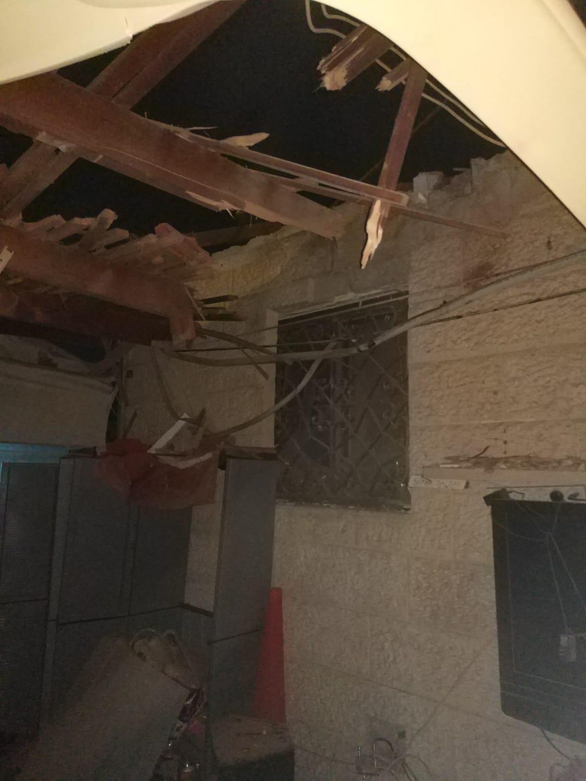 בית שנפגע בשדרות