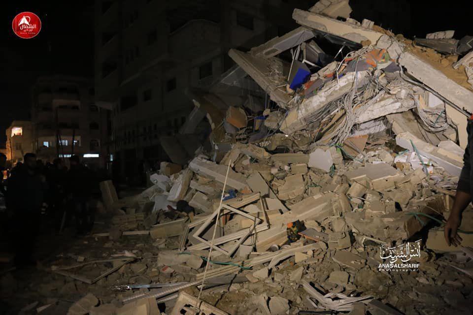 השמדת בניין טלויזית אלאקצא