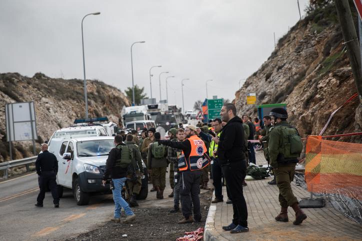 זירת הפיגוע לאחריו נעצרו המבוקשים