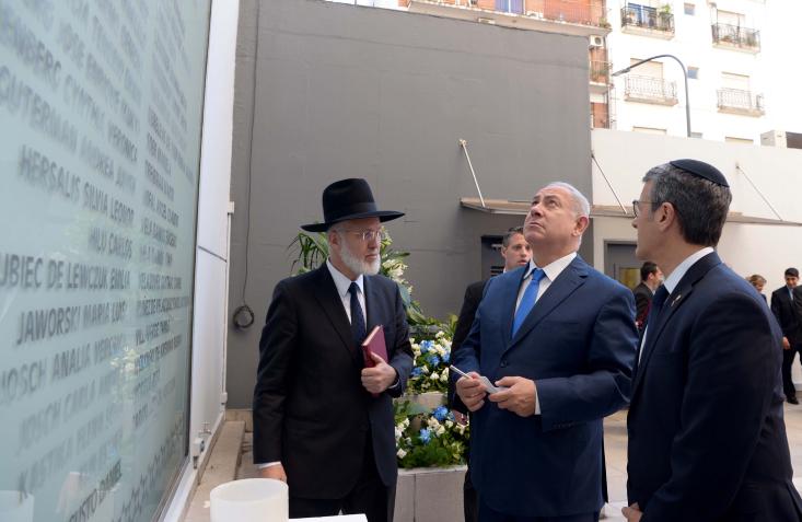 ראש הממשלה עם הרב דוידוביץ בארגנטינה