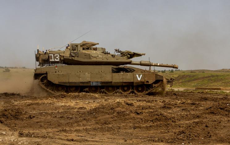 טנק מרכבה על גבול סוריה