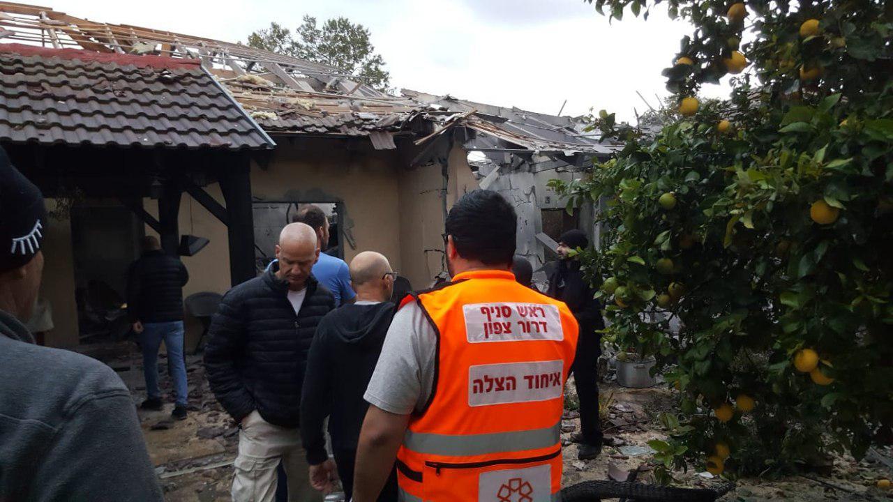 בית בשרון שנפגע