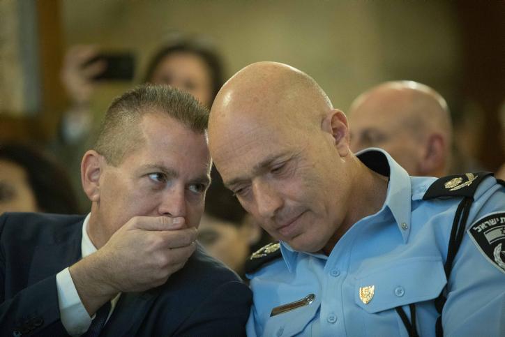 השר ארדן עם מפקד משטרת ירושלים