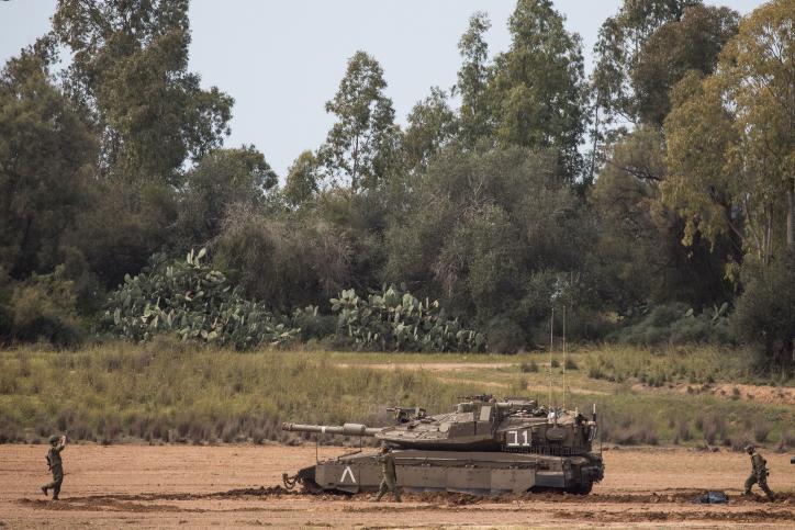 טנקים בגבול עזה היום