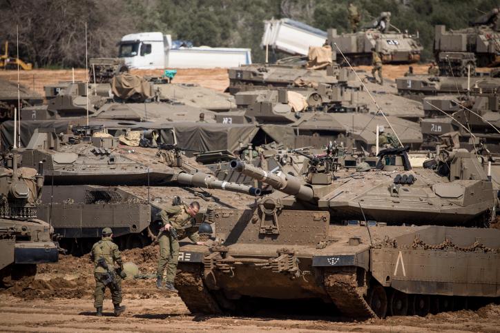 הטנקים היום בגבול הרצועה
