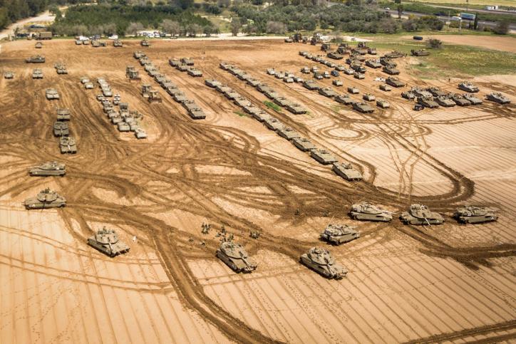 כוחות שיריון בגבול הרצועה אמש