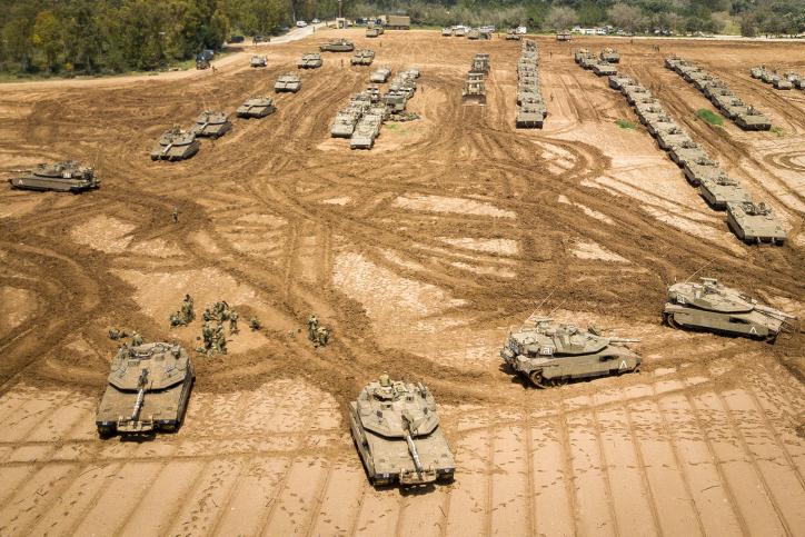 כוחות שיריון בגבול הרצועה היום