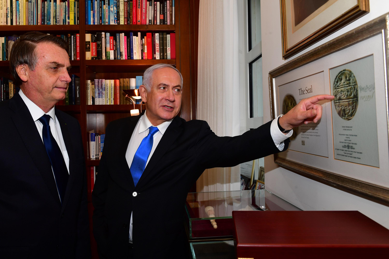 ראש הממשלה עם נשיא ברזיל בלשכתו