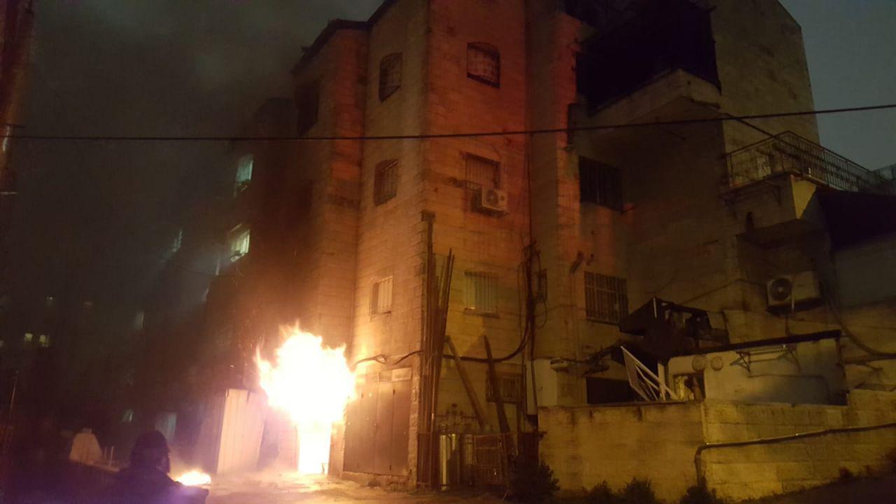 השריפה בבניין