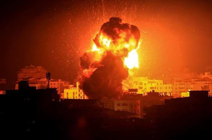 ההפצצה הלילה ברצועה