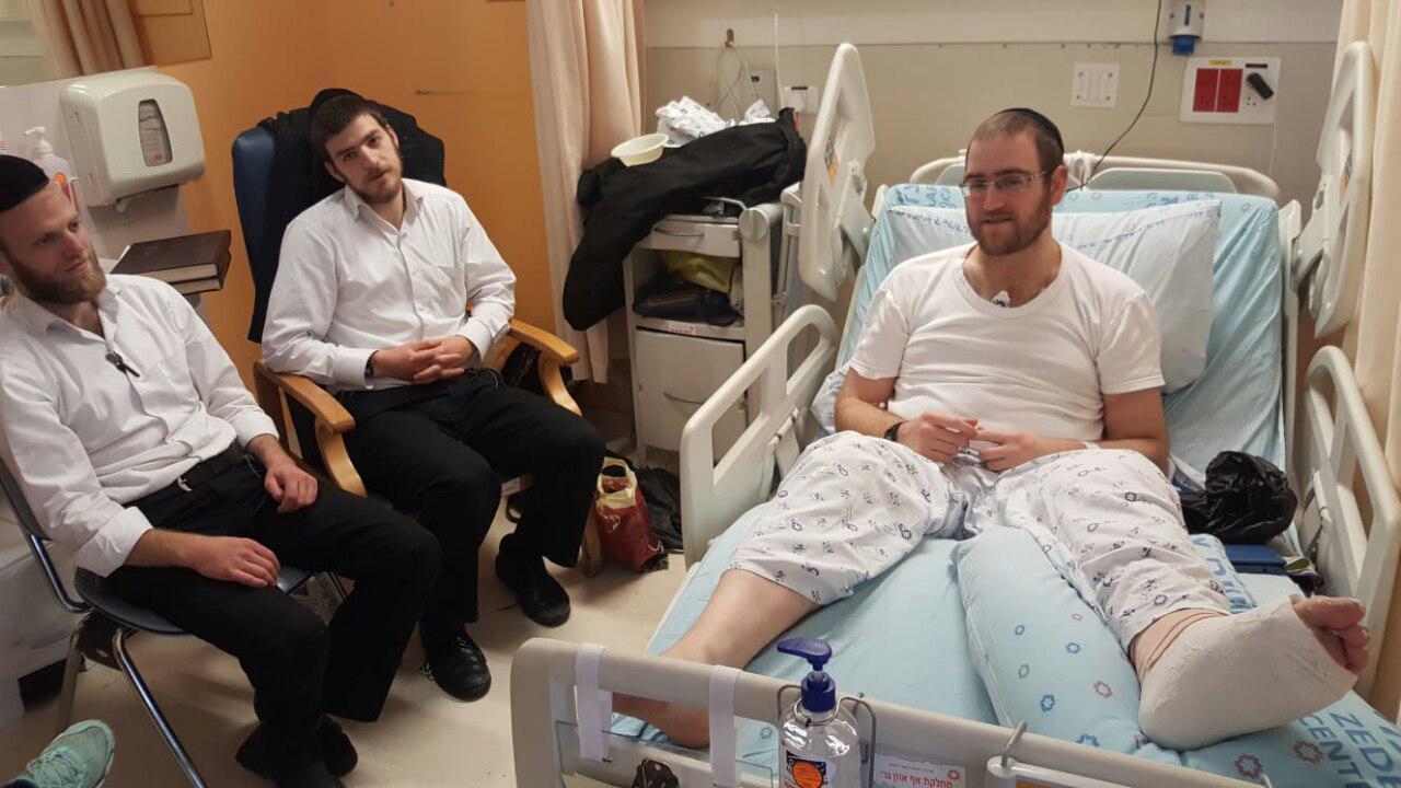 הפצוע בבית החולים