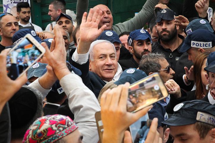 נתניהו בסיור בשוק התקווה בתל אביב היום