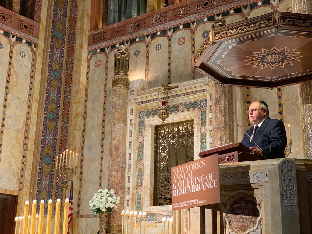 דני דיין בנאומו בטקס