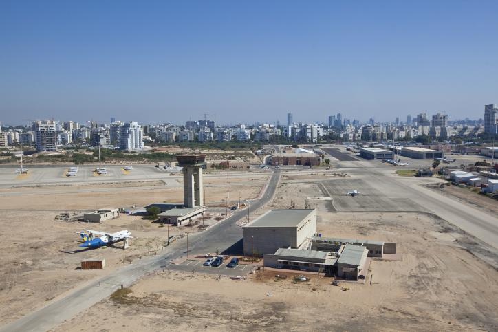 view of the Sde Dov airport in Tel Aviv