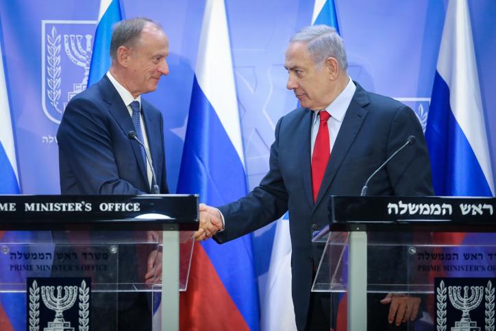 נתניהו עם היועץ לביטחון לאומי של רוסיה