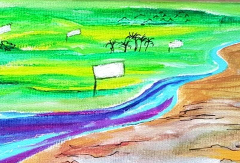 זאת הארץ חממה ציור ליאורה רוזנמן