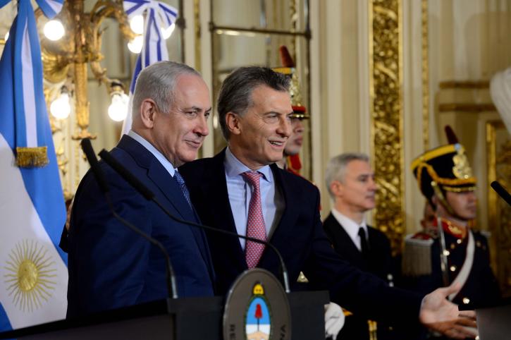 ראש הממשלה עם נשיא ארגנטינה במהלך ביקורו במדינה