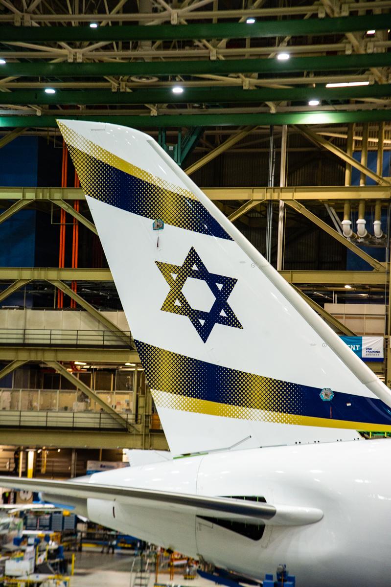 אל על משיקה את מטוס הדרימליינר ירושלים של זהב צילום Craig Larsen Boeing ...