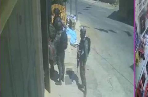 סריקות חיילים כפי שנקלטו במצלמות אבטחה פלסטיניות
