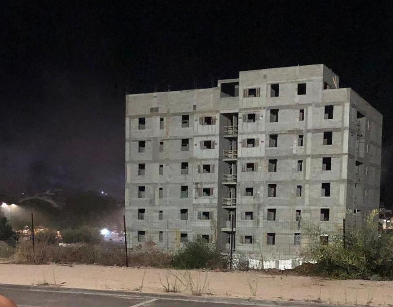 הבניין הריק שנפגע בשדרות
