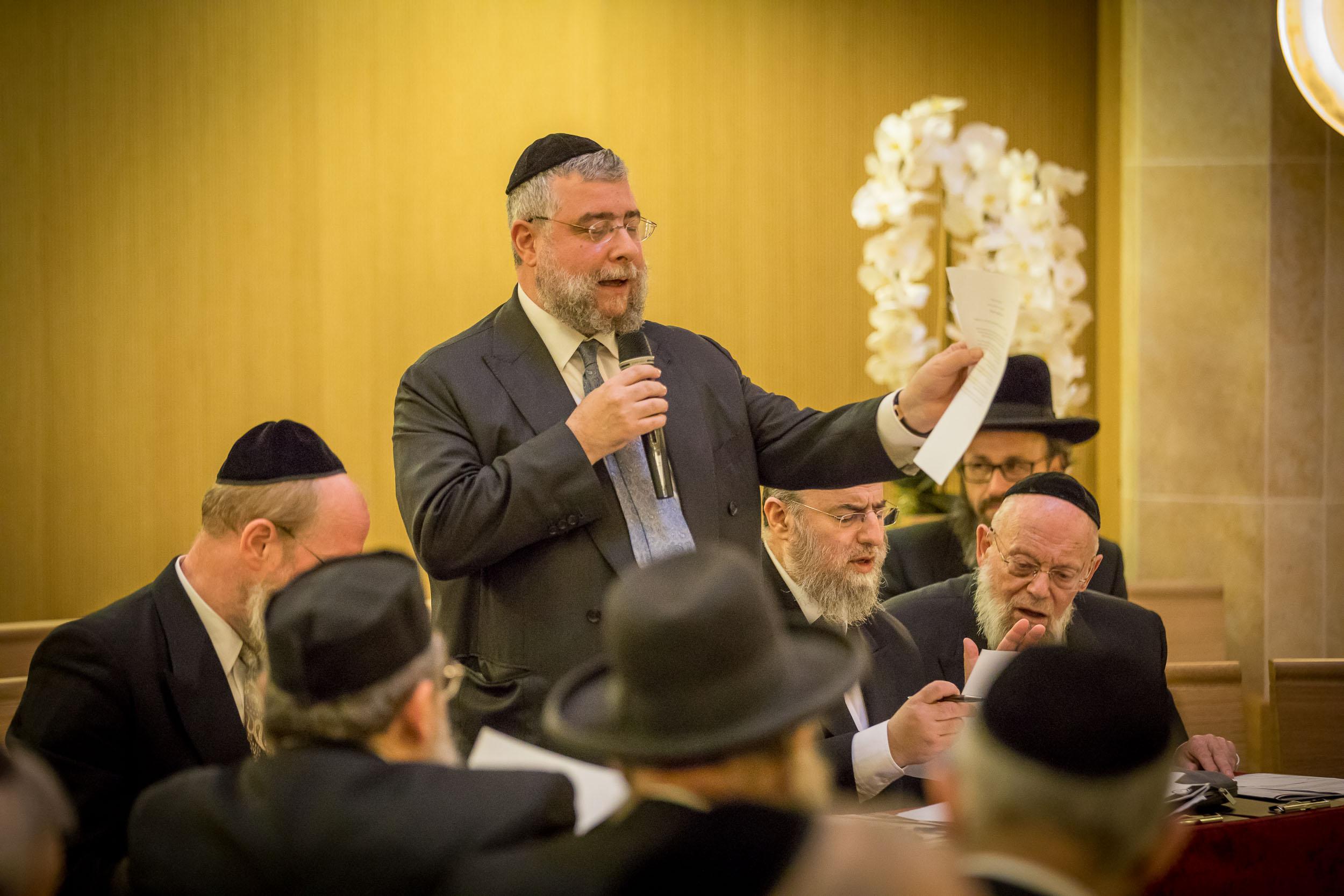 הרב פנחס גולדשמידט בכינוס הועדה המתמדת במונקו צילום אלי איטקין